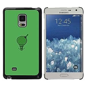 CASEX Cases / Samsung Galaxy Mega 5.8 9150 9152 / Afro Broccoli - Funny # / Delgado Negro Plástico caso cubierta Shell Armor Funda Case Cover Slim Armor Defender