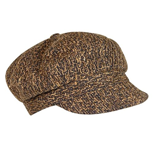 Nine West Headwear Women's Boucle Newsgirl Hat - Brown
