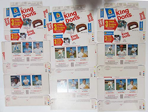 - (6) 1975 Hostess King Dons Unused Uncut Boxes Ryan Seaver ECT 21774