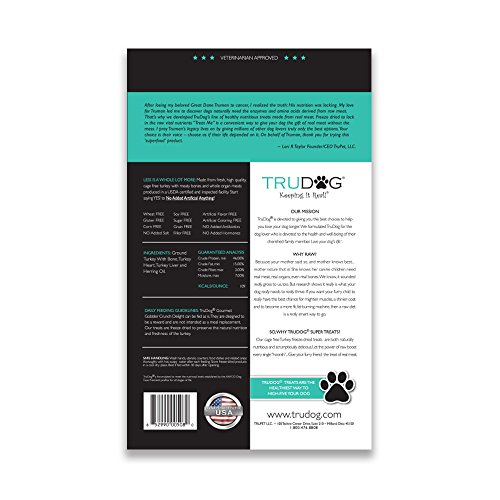 Real Meat Organic Dog Food-Feed Me: Freeze Dried Raw Superfood for Optimal Canine Health and Natural Longevity - All Natural - Balanced Nutrition - No Filters, No Grain - Just Add Water (Turkey, 14oz) by TruDog (Image #1)'