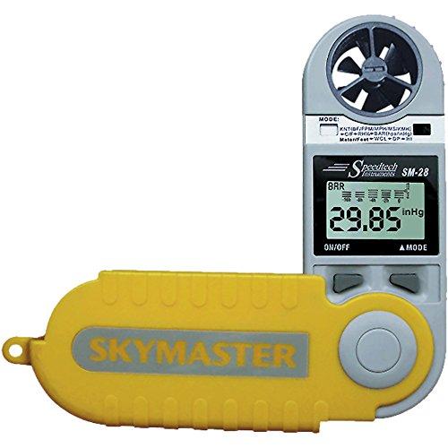 WeatherHawk SM-28 SkyMaster Hand-Held Weather Meter, Yellow (Speedtech Wind Meter)