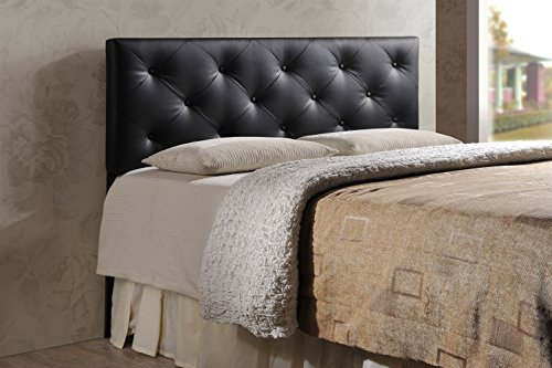 Baxton Studio Wholesale Interiors Baltimore Modern and Contemporary Faux Leather Upholstered Headboard, King, Black