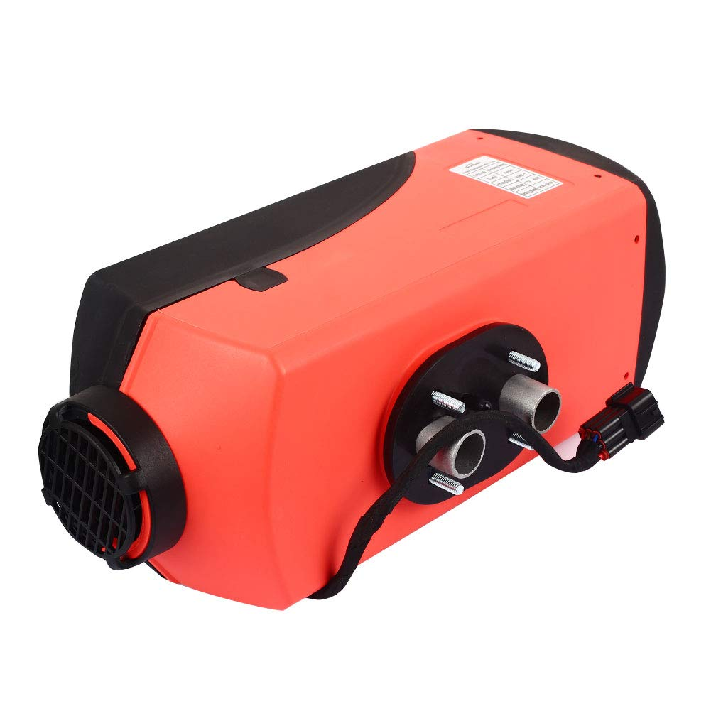 mingxiao Oil-Fired Heater Diesel Vehicle Heater Car 10L Tank Air Heater LCD Trailer Quiet Red 12V 5000W