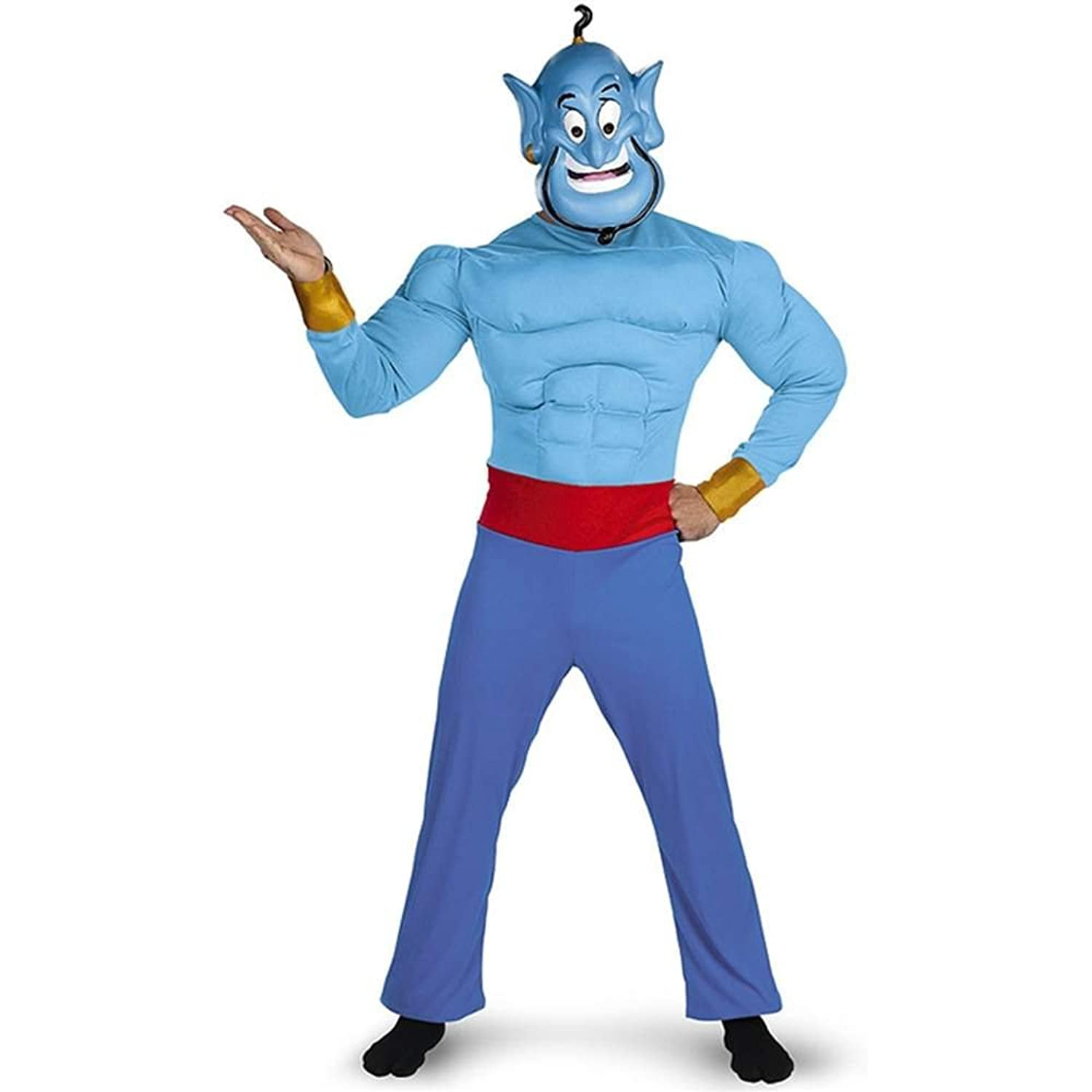 Disguise Men's Disney Aladdin Genie Muscle Costume