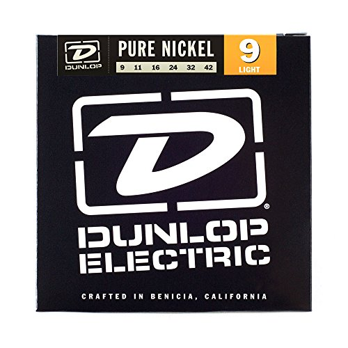 Dunlop DEK0942 Pure Nickel Electric Guitar Strings, Light.009-.042, 6 Strings/Set Nickel Wrap Electric Guitar Strings