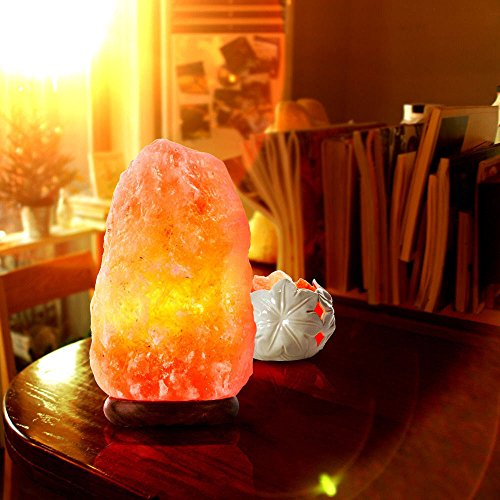Large Himalayan Natural Air Purifier Salt Crystal Lamp Rock Tower Plug Light