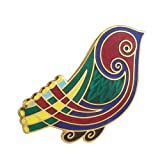 Biddy Murphy Multicolored Brooch Bird Design Gold Plated Made in Ireland