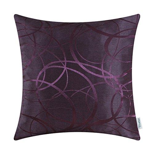 Calitime Throw Pillows Case Cushion Cover, Jacquard Ring Cir