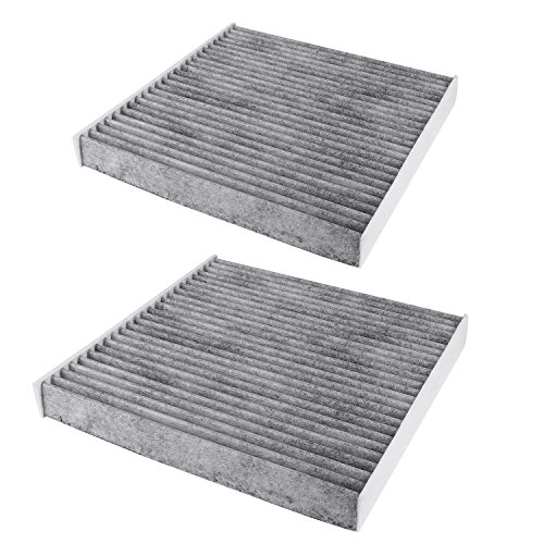 CF10134 Cabin Air Filter includes Active Carbon for Toyota/Lexus / Scion/Subaru, Against Bacteria Dust Viruses Pollen Gases Odors - 2Pack -