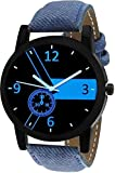 Timebre Blue Dial Denim Analogue Men's Watch