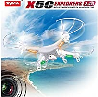 Syma X5C-1 2.4G 6 - Axis Gyro Aerial RC Quadcopter Drone With 2.0M HD Camera