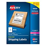 Avery Internet Shipping Labels 5-1/2'' x 8-1/2'', Box of 500 (95930)
