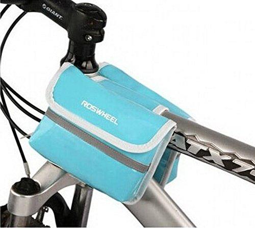 Die Fahrrad-Sattel-Pack - Schlauch vor dem Paket mit einem Mobiltelefon Tasche