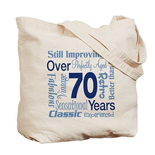 CafePress–más de 70años, 70th cumpleaños–Gamuza de bolsa de lona bolsa, bolsa de la compra