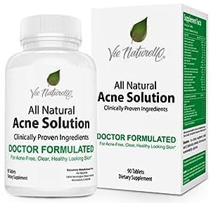 Vie Naturelle Acne Treatment Pills Supplement, 90 Tablets