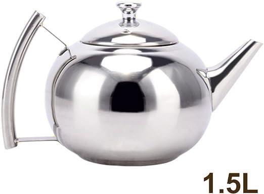 Cafetera cafetera, tetera de acero inoxidable de 1.5L con filtro ...