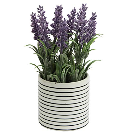 Admired By Nature French Lavender Artificial Plant with Ceramic Pot