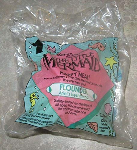 McDonald's Happy Meal Toy Disney's Little Mermaid Flounder 1998 -
