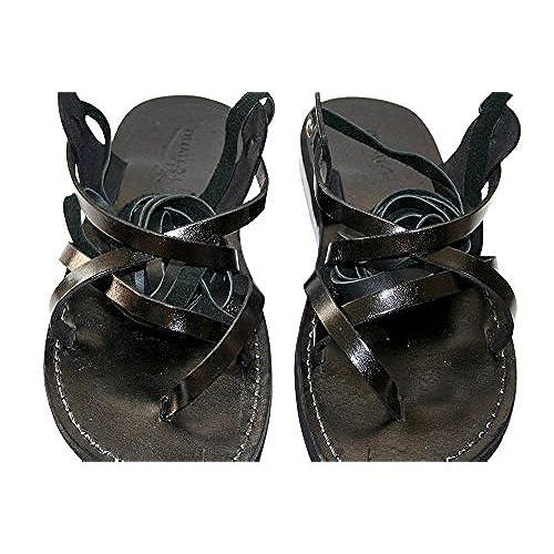 186b82d7cb4f Black Gladiator Leather Sandals For Men   Women - Handmade Unisex Sandals