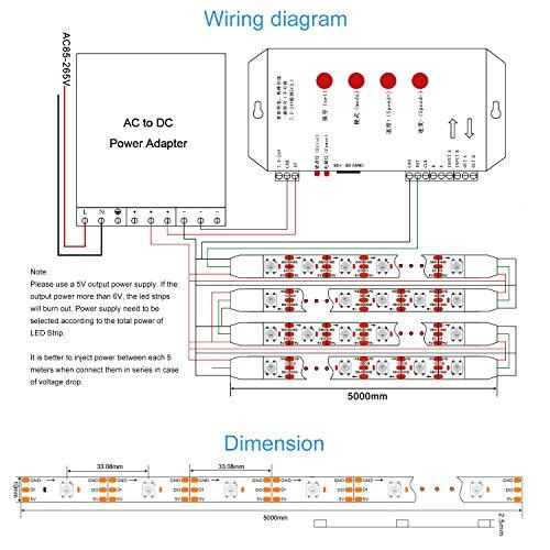 alitove 16 4ft ws2812b individually addressable led strip import