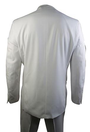 Costume Homme 2 Boutons Blanc élégant Costume Mariage Bal Veste et  Pantalon  Amazon.fr  Vêtements et accessoires a9084b9cbc2