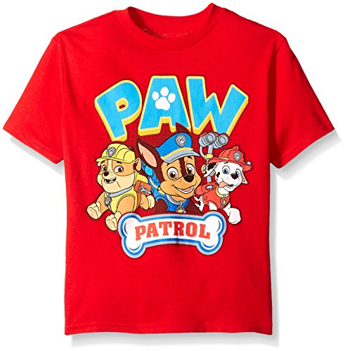 Paw Patrol Shirts (Nickelodeon Paw Patrol  Little Boys' Short Sleeve T-Shirt, Red,)