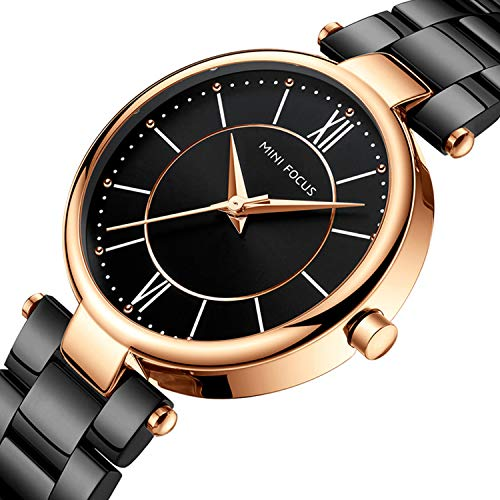 Womens Watch,Stone Quartz Watch with Stainless Steel Casual Fashion Wrist Watch for Ladies ()
