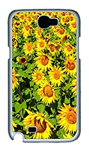 iCustomonline SunFlower Hard Back Protective Cover Case for Samsung Galaxy Note 2 N7100 PC Material White