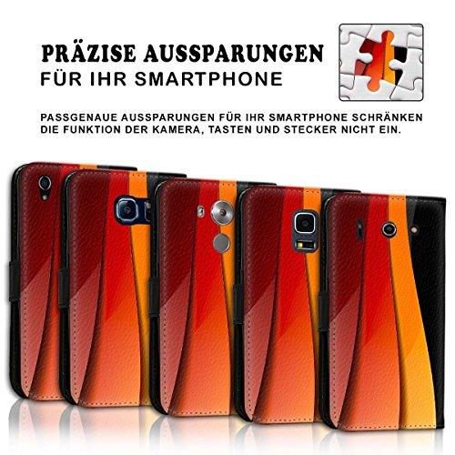 Wallet Book Style Flip Handy Tasche Case Schutz Hülle Schale Motiv Etui für Apple iPhone 5 / 5S - Design Flip MV119