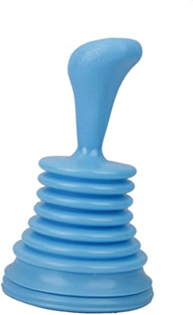 D/éboucheur de Canalisation pour Toilettes Salle de Bain Evier Cuisine Bleu