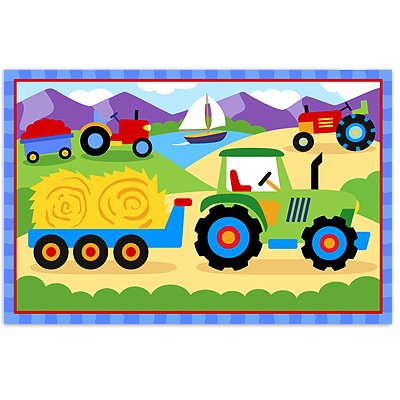 Trains Planes & Trucks Tractor Placemat