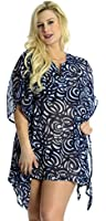 La Leela Sequin EMBROIDERED LIGHTWEIGHT CHIFFON Cover up Beach Swimsuit TUNIC