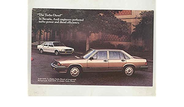 1983 Audi 5000 Turbo Diesel Large Factory Postcard at Amazons Entertainment Collectibles Store