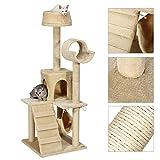 Ollieroo® Cat Tree Condo Scratcher Furniture Kitten Play House Hammock Beige 52