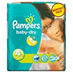 Pampers Baby Size 4 Dry Nappies 174 P...