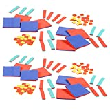 hand2mind Foam Algebra Tiles Bulk Classroom Kit with Storage Tote (Pack of 30)