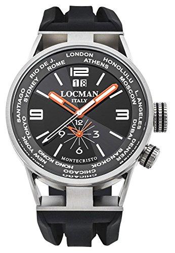 LOCMAN watch MONTECRISTO WORLD 0508A01S-00BKWHSK Men's