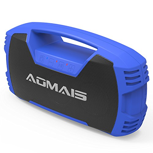 AOMAIS GO Bluetooth Speakers,Waterproof Portable Indoor/Outdoor 30W Wireless Stereo Pairing Booming Bass Speaker,30-Hour Playtime with 7200mAh Power Bank,Durable for Pool Party,Beach,Camping(Blue)