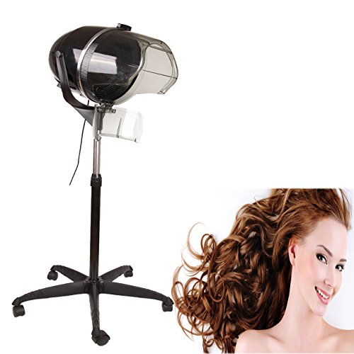"""Ridgeyard Professional 900W Adjustable Hooded Floor Hair Bonnet Dryer Stand Up Rolling Base with Casters Salon Beauty Equipment 30""""-50""""Height"""