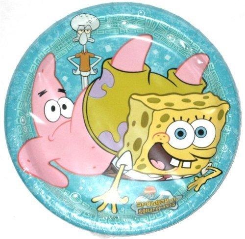Nickelodeon Spongebob Squarepants 8 Count Dessert Plates