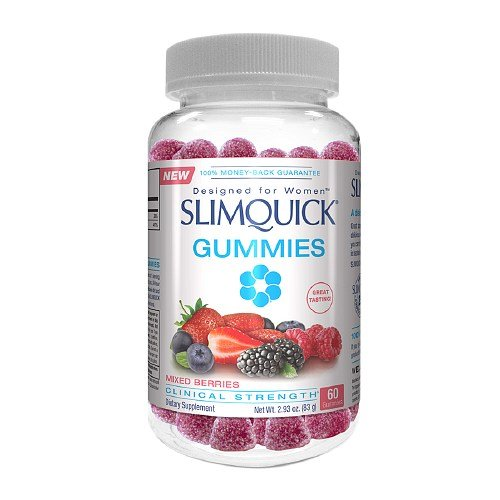 Slimquick Pure For Women Dietary Supplement Gummies Mixed Berries, 60 ct (Pack of 4)