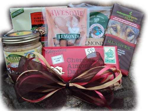 Almond Healthy Gift Box by Well Baskets by Well Baskets