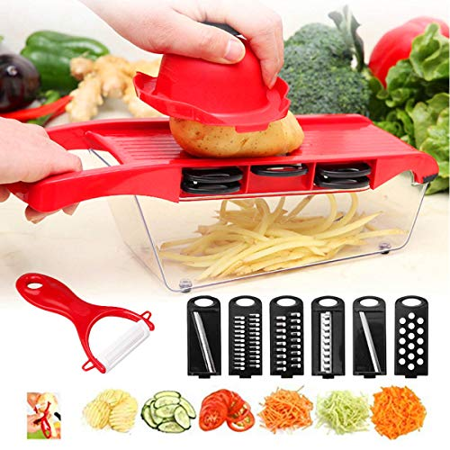 Keep Better 6 In 1 Mandoline Slicer Cutter Chopper And Grater Interchangeable Stainless Steel Multifunctional Kitchen Tool