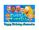 bubble guppies sheets - Bubble Guppies Edible Image Photo Cake Topper Sheet Personalized Custom Customized Birthday Party - 1/4 Sheet - 78745