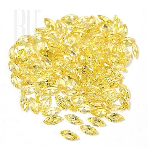 Be You Jaune doré Zircone Cubique AAA Qualité 2.5x4 mm Diamant Coupe Marquise Forme 500 pcs gemme