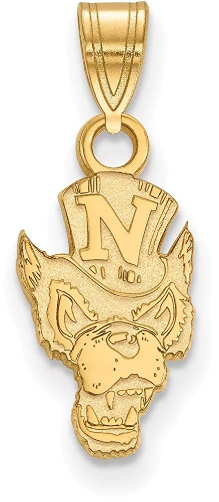 Gold-Plated Sterling Silver University of Nevada Small Pendant LogoArt GP005UNR