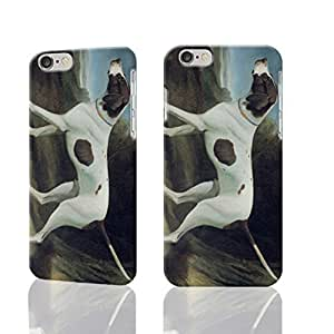 Portrait Of A Liver And White Pointer Image Protective Hard Custom Plastic 3d Case Cover for Apple iPhone 6 Plus - 5.5 inch, 3D Nanli Case,
