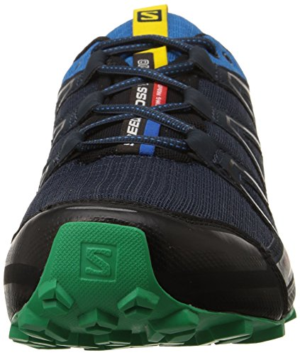Salomon Speedcross Vario Herren Traillaufschuhe Schwarz (Deep Blue/Methyl Blue/Real Green)