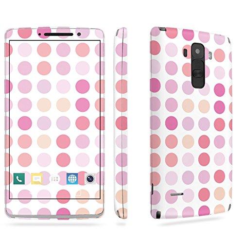 LG [G Stylo] Phone Skin - [SkinGuardz] Full Body Scratch Proof Vinyl Decal Sticker with [WallPaper] - [Dots Pink] for LG [G Stylo] [LS770 H631] -  SF-LGLS770-T5-MA-X058