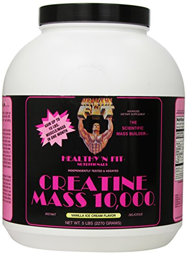 Healthy 'n Fit Creatine Mass 10000 5-pound Bottle Vanilla,  Tub by Healthy 'N Fit